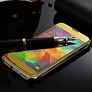 お買い得  携帯電話ケース-ケース 用途 Samsung Galaxy Samsung Galaxy ケース ミラー フルボディーケース 純色 PC のために S5