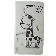 Недорогие Чехлы и кейсы для Galaxy A3(2016)-Кейс для Назначение SSamsung Galaxy A3(2016) Бумажник для карт Кошелек со стендом Флип Чехол Мультипликация Животное Твердый Кожа PU для