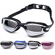 billige Vandsport-svømmebriller Anti-Tåge Justerbar Størrelse Vandtæt Acetat Akryl Sort Sølv Sølv