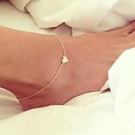 Недорогие $0.99 Модное ювелирное украшение-Ножной браслет Цепи Цепь Тела / Belly Chain - Позолота Сердце Уникальный дизайн, Простой стиль, Мода Золотой Назначение Для вечеринок / Повседневные / Пляж / Жен.