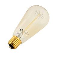E26/E27 LED-pallolamput B 9 Tungsten Filament ledit SMD Koristeltu Lämmin valkoinen 400lm 3000K AC 220-240V