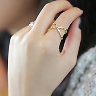 Women's Zircon / Alloy Band Ring - Love / Heart Silver / Golden Ring For Daily / Casual / Sports