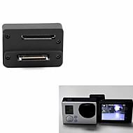 LCD ekran Védőburkolat Lencsevédő sapka LCD képernyő adapter Gomb Állvány Kényelmes mert Akciókamera Gopro 5 Gopro 4 Gopro 4 Silver Gopro