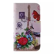 Недорогие Чехлы и кейсы для Galaxy J-цветок и Эйфелева башня шаблон телефон кожаный для Samsung Galaxy j5
