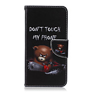 お買い得  携帯電話ケース-ケース 用途 Samsung Galaxy Samsung Galaxy ケース カードホルダー ウォレット スタンド付き フリップ フルボディーケース カートゥン PUレザー のために S6 edge plus S6 edge S6 S5 Mini S5 S4 Mini
