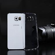 お買い得  Galaxy S6 Edge Plus ケース / カバー-サムスンギャラクシーS3 / S4 / S5 / S6 / S6エッジ/ S6のエッジ用の透明PC背面カバーケースプラス
