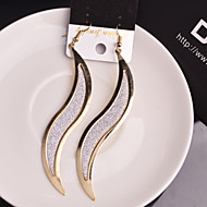 Недорогие $0.99 Модное ювелирное украшение-Жен. Серьги-слезки - В форме листа На заказ, европейский, Массивный Серебряный / Золотой Назначение Свадьба / Для вечеринок / Особые случаи