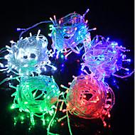 olcso LEDszalagfények-LED füzér tündér fény fénykibocsátó dióda f5 100led vízálló / IP65 3 színű fény ac180-240v 10m / csomó