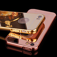 Case For iPhone 5 Apple iPhone 5 Case Plating Mirror Back Cover Solid Color Hard Acrylic for iPhone SE/5s