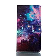 お買い得  Samsung 用 ケース/カバー-ケース 用途 Samsung Galaxy Samsung Galaxy ケース ウォレット / カードホルダー / スタンド付き フルボディーケース 風景 PUレザー のために S6 edge / S6 / S5 Mini