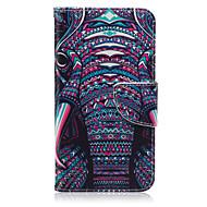 Недорогие Чехлы и кейсы для Galaxy Ace 4-Для Кейс для  Samsung Galaxy Бумажник для карт / Кошелек / со стендом / Флип / С узором Кейс для Чехол Кейс для Слон Искусственная кожа