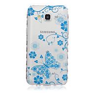 Для Кейс для  Samsung Galaxy Прозрачный / С узором Кейс для Задняя крышка Кейс для Бабочка TPU SamsungJ7 / J5 / J3 / J2 / J1 Ace / J1 /