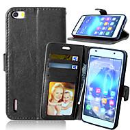 Για Θήκη Huawei Θήκη καρτών / Πορτοφόλι / με βάση στήριξης tok Πλήρης κάλυψη tok Μονόχρωμη Σκληρή Συνθετικό δέρμα HuaweiHuawei Y550 /
