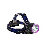 cheap Flashlights, Lanterns & Lights-3Mode Headlamps Bike Lights LED 2000 lm 3 Mode with Batteries and Chargers Impact Resistant Rechargeable Waterproof Camping/Hiking/Caving