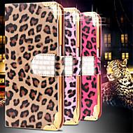 Varten Samsung Galaxy kotelo Lomapkko / Korttikotelo / Paljetti / Tuella / Flip Etui Kokonaan peittävä Etui Leopardiprintti Tekonahka