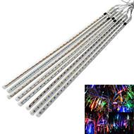Χαμηλού Κόστους LED Φωτολωρίδες-jiawen® αδιάβροχο 50 εκατοστά 8-σωλήνα φώτα RGB / λευκό / μπλε σωλήνα μετεωρίτη βροχή διακόσμηση (αμερικανικό βούλωμα, AC 110-220V)