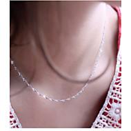 Недорогие $0.99 Модное ювелирное украшение-Жен. Ожерелья-цепочки - Серебрянное покрытие Серебряный Ожерелье Назначение Свадьба, Для вечеринок, Повседневные