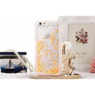 Недорогие Кейсы для iPhone 8 Plus-Кейс для Назначение Apple iPhone X / iPhone 8 / iPhone 8 Plus Движущаяся жидкость / Прозрачный Кейс на заднюю панель Сияние и блеск Твердый ПК для iPhone X / iPhone 8 Pluss / iPhone 8