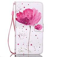preiswerte Handyhüllen-Hülle Für Samsung Galaxy Samsung Galaxy Hülle Kreditkartenfächer Geldbeutel mit Halterung Flipbare Hülle Ganzkörper-Gehäuse Blume PU-Leder