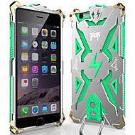 Недорогие Модные популярные товары-Кейс для Назначение Apple iPhone 6 iPhone 6 Plus Защита от пыли Защита от удара Кейс на заднюю панель броня Твердый Металл для iPhone 6s