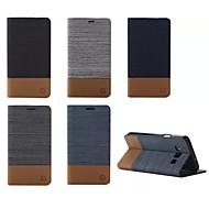 Недорогие Чехлы и кейсы для Galaxy А-Кейс для Назначение SSamsung Galaxy Кейс для  Samsung Galaxy Бумажник для карт со стендом Флип Магнитный Чехол Сплошной цвет Кожа PU для