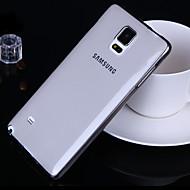 Недорогие Чехлы и кейсы для Galaxy Note-Кейс для Назначение SSamsung Galaxy Samsung Galaxy Note Ультратонкий Прозрачный Кейс на заднюю панель Сплошной цвет ТПУ для Note 5 Note 4