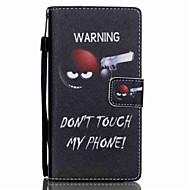 Volledig Lichaam portemonnee / Kaarthouder / met Tribune Word / Phrase PU-leer Hard Geval voor Huawei Huawei P8 Lite