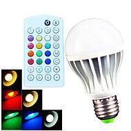 お買い得  LED ボール型電球-700 lm E26/E27 B22 LEDボール型電球 A60(A19) 15 LEDの SMD 5730 調光可能 装飾用 リモコン操作 温白色 クールホワイト ナチュラルホワイト RGB AC 100-240V
