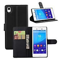 preiswerte Handyhüllen-Hülle Für Sony Z5 / Sony Xperia Z4 / Sony Xperia Z3 Geldbeutel / Kreditkartenfächer / Stoßresistent Ganzkörper-Gehäuse Solide Hart PU-Leder für Sony Xperia Z2 / Sony Xperia Z3 / Sony Xperia Z3 Compact