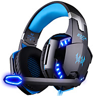 cheap PC & Tablet Accessories-KOTION EACH G2000 Over Ear Headband Wired Headphones Plastic Gaming Earphone Noise-isolating with Microphone with Volume Control Luminous