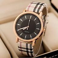 Χαμηλού Κόστους Μοντέρνα ρολόγια-Γυναικεία Μοδάτο Ρολόι Χαλαζίας Καθημερινό Ρολόι PU Μπάντα Ριγέ Μπλε Ροζ Χακί