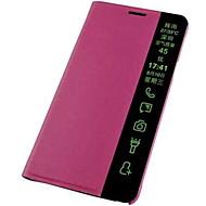 Для Кейс для Huawei / P8 / P8 Lite С функцией автовывода из режима сна / Флип Кейс для Чехол Кейс для Один цвет Твердый Искусственная кожа