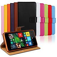 For Nokia etui Pung Kortholder Med stativ Etui Heldækkende Etui Helfarve Hårdt Kunstlæder for NokiaNokia Lumia 1020 Nokia Lumia 950 Nokia