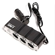 1-to-3 USB Car  Lighter Power Splitter (DC 12V) Car Charger