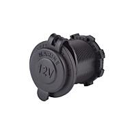 お買い得  -iztoss 12v 24v防水パワーソケット車のオートバイ60センチメートルのコードを追加回路ヒューズホルダー