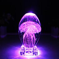 billiga Originella LED-lampor-nattljus bordslampa färgglada maneter nattljus roman kristall hantverk led nattlampa ljusstrålning ljusgife