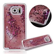 Недорогие Чехлы и кейсы для Galaxy S-Кейс для Назначение SSamsung Galaxy Кейс для  Samsung Galaxy Движущаяся жидкость Кейс на заднюю панель Мультипликация ПК для S6