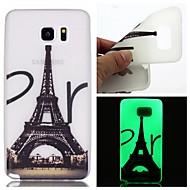Для Samsung Galaxy Note Сияние в темноте Кейс для Задняя крышка Кейс для Эйфелева башня TPU Samsung Note 5