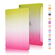 billige Etuier og covers til iPad-god kvalitet pu læder regnbue gradient hylster til iPad mini 3/2/1