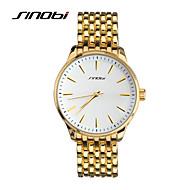 SINOBI Муж. Наручные часы Кварцевый Защита от влаги Спортивные часы Позолоченное розовым золотом сплав Группа Золотистый