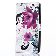 preiswerte Handyhüllen-Hülle Für Samsung Galaxy Samsung Galaxy Hülle Kreditkartenfächer Geldbeutel mit Halterung Flipbare Hülle Muster Ganzkörper-Gehäuse Blume