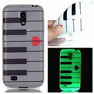 Для Кейс для  Samsung Galaxy Сияние в темноте Кейс для Задняя крышка Кейс для Полосы / волосы TPU SamsungS6 edge plus / S6 / S5 / S4 Mini