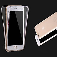 Недорогие Кейсы для iPhone 8-Кейс для Назначение Apple iPhone X iPhone 8 iPhone 8 Plus iPhone 6 iPhone 6 Plus Прозрачный Чехол Сплошной цвет Мягкий ТПУ для iPhone X