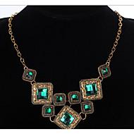お買い得  -女性用 幾何学模様 ステートメントネックレス  -  ぜいたく, ヴィンテージ, 欧風 スクリーンカラー ネックレス 用途