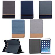 κάτοχος της ζώνης σιτηρών καμβά για ανοικτή κάρτα θήκη για iPad αέρα 2 / ipad 6 (διάφορα χρώματα)