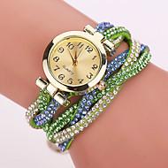 povoljno -Xu™ Dame ' Modni sat Narukvica Pogledajte Kvarc Casual sat imitacija Diamond PU Grupa Cvijet Leopard Boemski stilCrna Bijela Plava Crvena