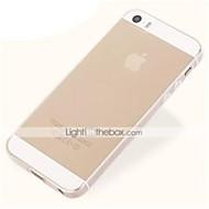 abordables Offres Spéciales Cadeaux-Coque Pour iPhone 5 / Apple Coque iPhone 5 Ultrafine / Transparente Coque Couleur Pleine Flexible TPU pour iPhone SE / 5s / iPhone 5