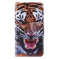 Назначение Кейс для  Samsung Galaxy Чехлы панели Бумажник для карт со стендом Флип С узором Магнитный Чехол Кейс для Животное