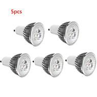 お買い得  LED スポットライト-5個 3 W 250 lm E14 / GU10 / GU5.3 LEDスポットライト 3 LEDビーズ ハイパワーLED 装飾用 温白色 / クールホワイト 85-265 V / RoHs