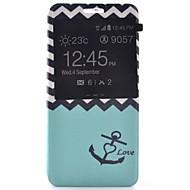Для Кейс для  Samsung Galaxy со стендом / с окошком / С узором Кейс для Чехол Кейс для Якорь Искусственная кожа SamsungA7(2016) /